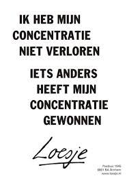 concentratie, onrust, Loesje